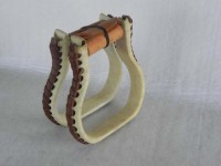 Rawhide covered stirrup 1 inch