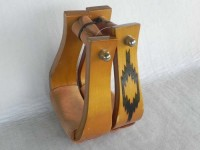 Wood Stirrup With pattern 2 inch