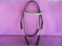 Shutz rawhide browband bridle with quick change