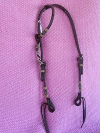 One eared bridle with horse hair