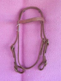 Brow band bridle with buckles