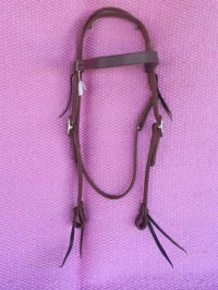 Brow band bridle with laces