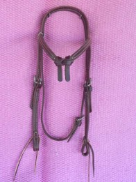 Futurity knot brow band bridle
